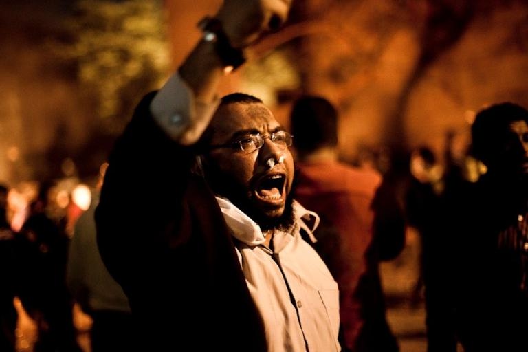 <p>Near Cairo's Tahrir Square. Nov. 21, 2011.</p>