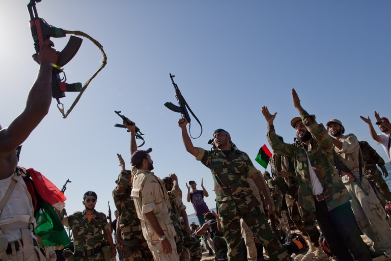 <p>Rebels to Libyans: We won. Now, please stop shooting in the air.</p>