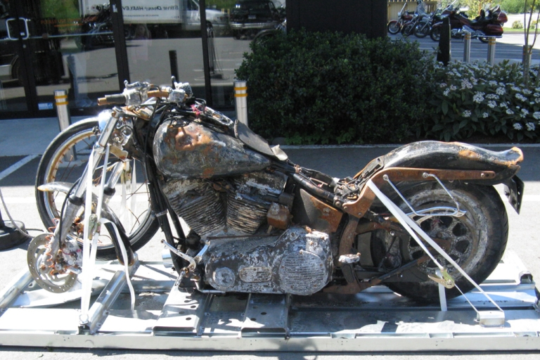 <p>Harley-Davidson is putting a motorcycle lost in the Japanese tsunami, and found 4,000 miles away a year later in Canada, on display at its museum in Milwaukee.</p>