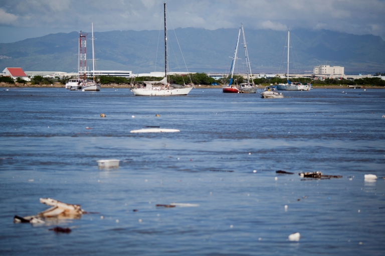 <p>Debris floats in Keehi Boat Harbor on March 11, 2011 in Honolulu, Hawaii, after a tsunami swept through the area. Tsunami waves rolled thousands of miles across the Pacific Ocean after a massive earthquake off Japan.</p>