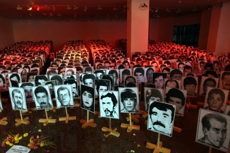 <p>An exhibition show photos of Turkish victims of the Sept. 12, 1980 military coup in Ankara.</p>