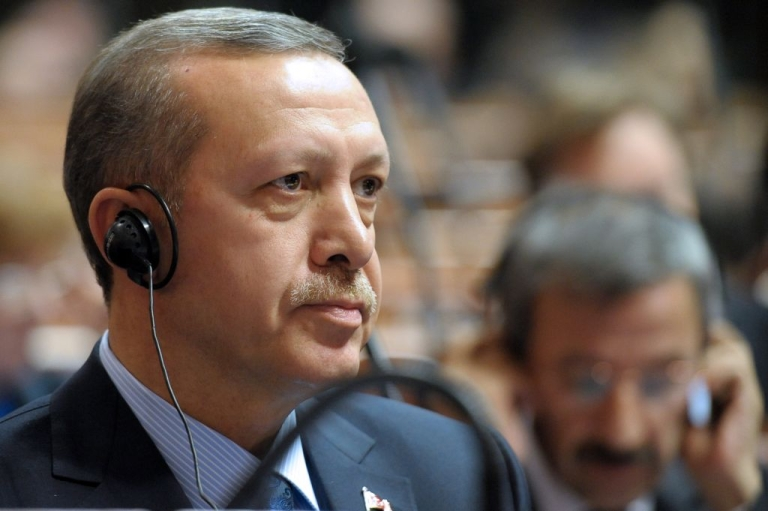 <p>Recep Tayyip Erdogan attends the Council of Europe parliamentary assembly in Strasbourg, eastern France, on April 13, 2011. The Turkish Prime Minister has angered Israel and the US by comparing Zionism to