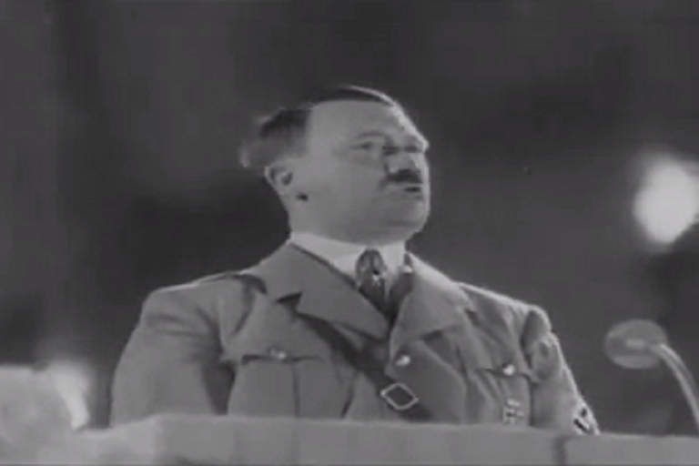 <p>The 13 second shampoo advertisement features Hitler declaring