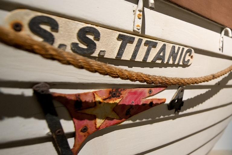 <p>The S.S. Titanic liftboat #4.  The 'unsinkable' Titanic sank Apr. 15, 1912 after colliding with an iceberg during her maiden voyage from Southampton to New York City, killing 1,514 people.  It is one of the deadliest peacetime maritime disasters in history.</p>