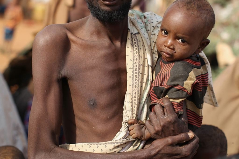 <p>A Somalian refugee at the Dadaab refugee settlement in Kenya where thousands have fled from the region's worst drought and famine. The UN has since released a report saying the 2010-2012 famine left nearly 260,000 dead.</p>
