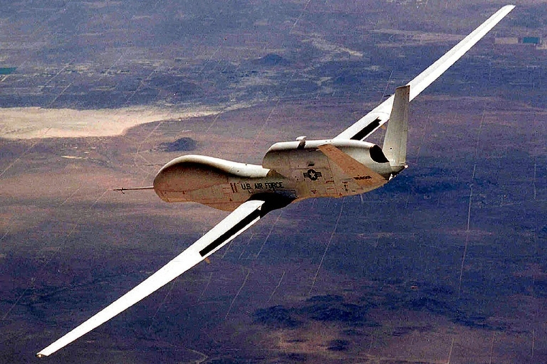 <p>The Air Force's Global Hawk drone (AKA unmanned aerial vehicles) makes aerospace history as the first to fly unrefueled 7,500 miles across the Pacific Ocean. Pakistan has denounced the CIA's covert drone program in Pakistan after a deadly NATO strike against Pakistani troops deteriorated US-Pakistan relations.</p>