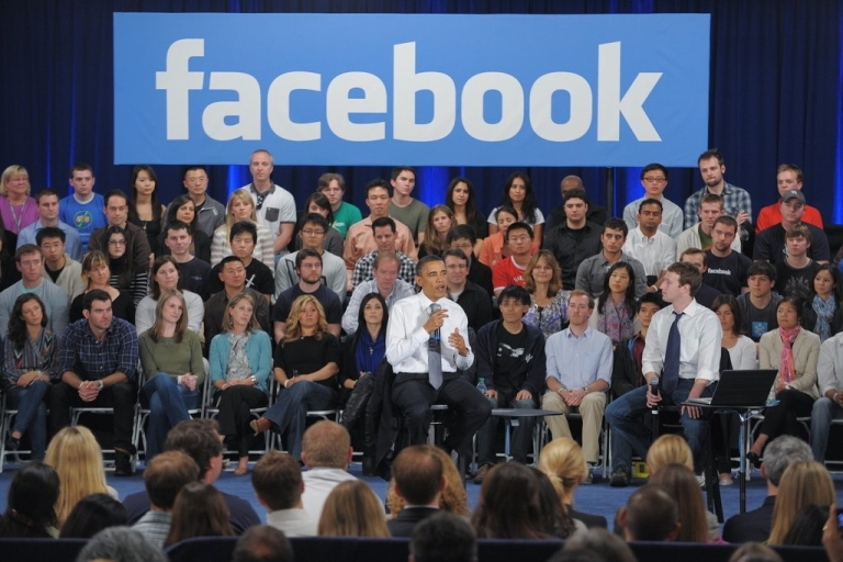 <p>A town hall meeting at the Facebook headquarters in Paolo Alto California earlier this year. Many law enforcement agencies in the U.S. including the FBI, the DEA and ICE are now getting warrants to search Facebook often without the users' knowledge.</p>