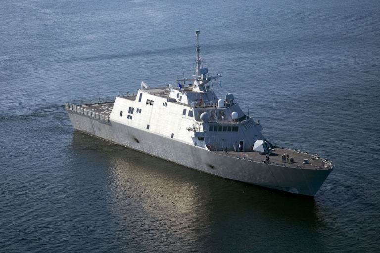 <p>The USS Freedom, the first ship in the Navy's Littoral Combat Ship class, is underway Monday, July 28, 2008. China has now launched its own Littoral ship.</p>