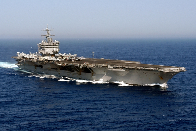 <p>This photo released by the US Navy in 2004 shows the USS Enterprise in the Atlantic during the Summer Pulse 2004 naval exercises.</p>