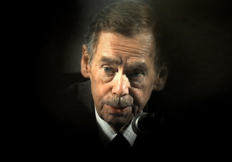 <p>Former Czech President Vaclav Havel speaks during the presentation of the project of the Vaclav Havel Library on March 1, 2011 in Prague. Havel died aged 75 on December 18, 2011, his office said.</p>