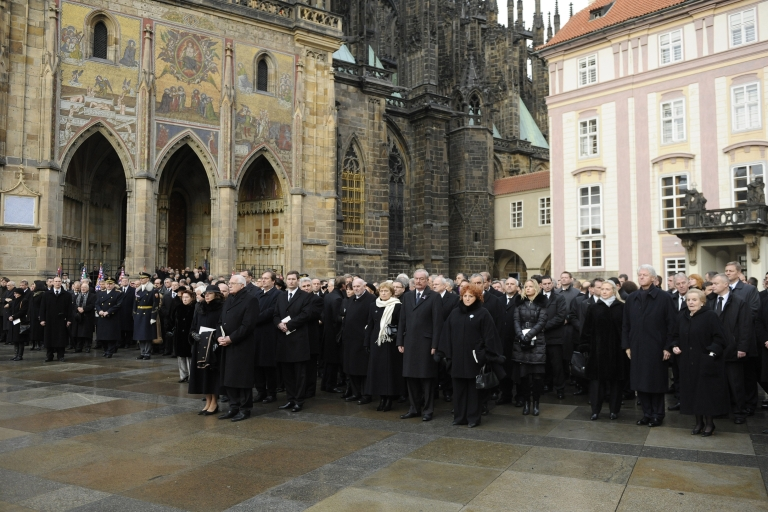<p>World leaders and thousands of citizens gathered for Vaclav Havel's funeral on Friday.</p>