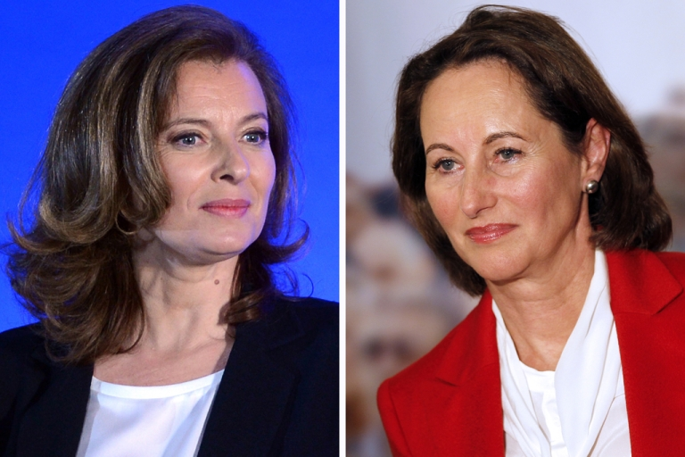 <p>Socialist Party newly elected president Francois Hollande's companion Valerie Trierweiler, and Segolene Royal, candidate for the Socialist Party's 2011 primary vote for France's 2012 presidential election. France's new first lady took a very public swipe at the president's former partner, Segolene Royal, with a good luck tweet sent on June 12, 2012 to the politician standing against her in parliamentary polls. Valerie Trierweiler's message on Twitter also put her at odds with President Francois Hollande, who has declared his full support for Socialist Royal's electoral bid.</p>