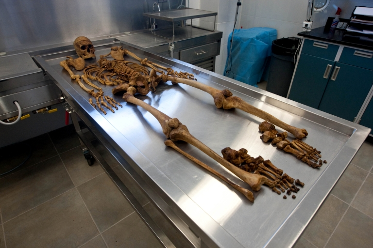 <p>Several corpses treated for vampirism were found in Bulgaria. These are not those remains.</p>