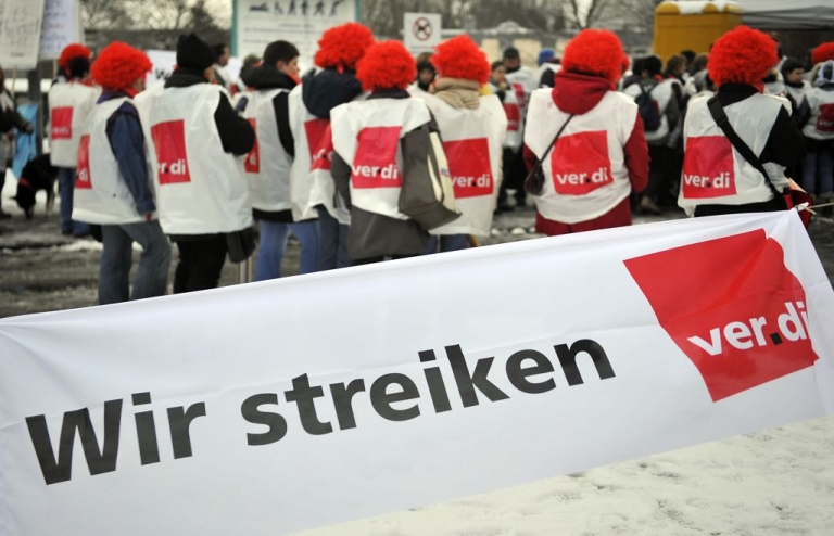<p>A series of warning strikes called by powerful public sector union Verdi has disrupted service in German hospitals, nursery schools, administration, public transport and airports over the past two months.</p>