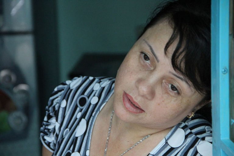 <p>Phan Anh Nhung, 39, is the daughter of a former prostitute and a Vietnam War-era U.S. GI. Years ago, she was nearly resettled in the U.S. But consulate officers discovered she was cooperating with scam artists hoping to pawn off a bogus Vietnamese family as her relatives so they too could emigrate.</p>