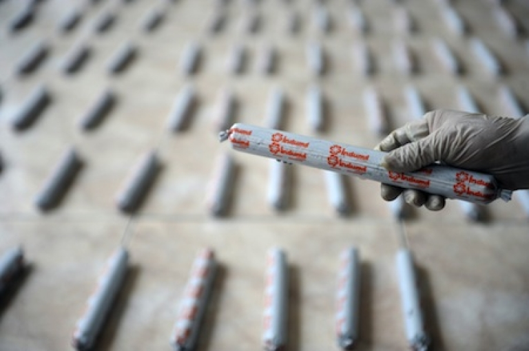 <p>A stick of dynamite seized by authorities in Colombia.</p>