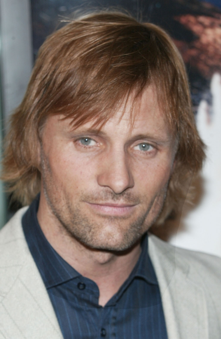 <p>Viggo Mortensen, at the LA Premiere of The Lord of the Rings.  The late fight sword-fight choreographer Bob Anderson called him the most gifted swordsman he ever trained.</p>