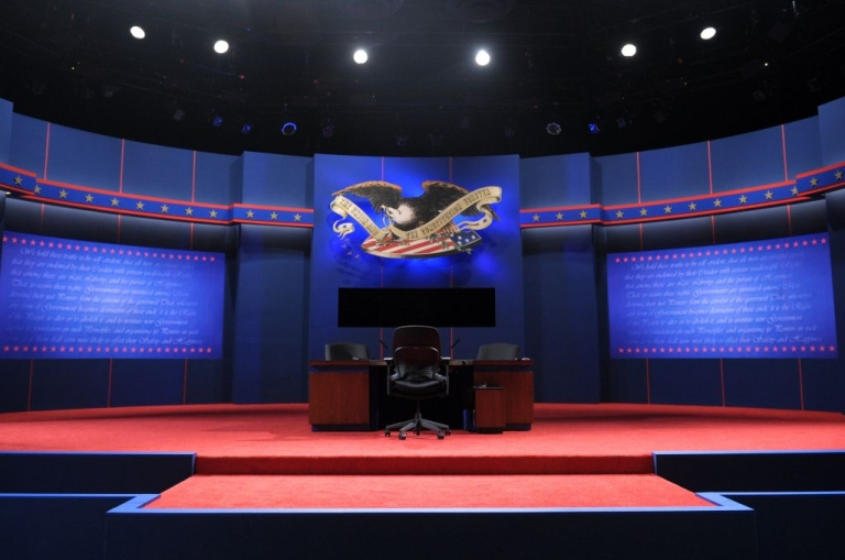 <p>The stage was set for a showdown ahead of the Vice Presidential debate.</p>