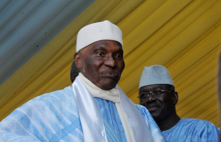 <p>Senegalese President Abdoulaye Wade arrives Dec 23 in Dakar at a special meeting of the Senegalese Democratic Party where it was announced that he would run for a third term this month.</p>