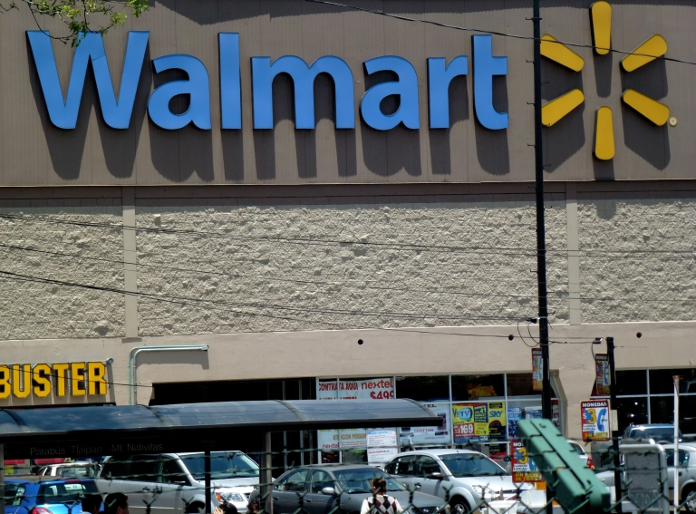 <p>A Wal-Mart supermarket in Mexico City is seen today.</p>
