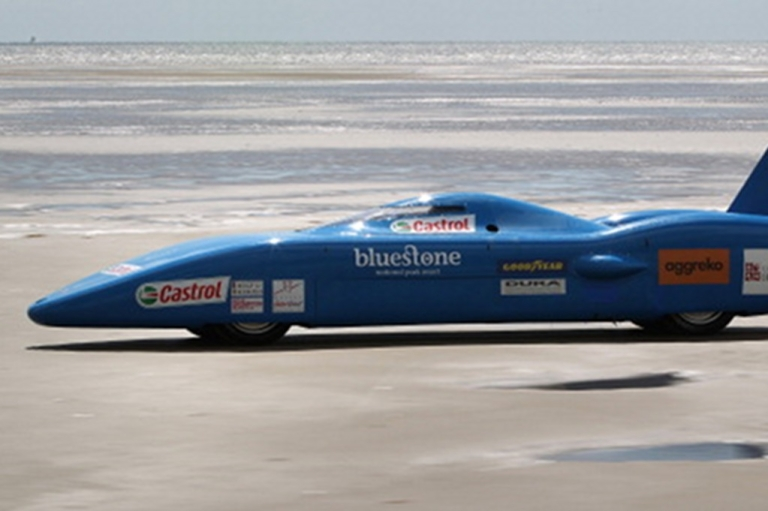 <p>Joe Wales attempts to break the British land speed record in the  Bluebird Electric car on August 14, 2011 in Pendine, Wales. Billions have been spent on the much-hyped electric car, but buyers and drives remain elusive.</p>