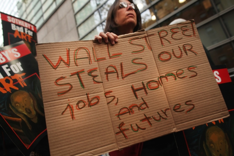 <p>Occupy Wall Street in New York</p>
