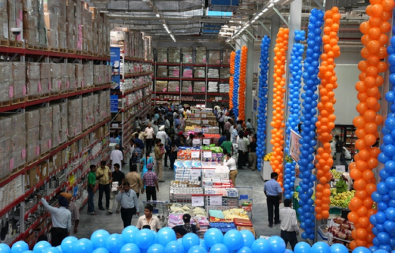<p>Until last week, foreign retailiers could only open wholesale stores like this Wal-Mart outlet in northwestern Punjab state's Jalandhar. But India is set to allow 51% foreign direct investment in multi-brand retail stores -- if the government can survive an ongoing blitz by the opposition.</p>