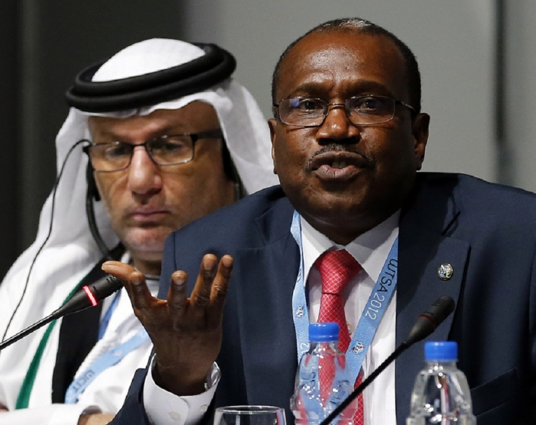 <p>Hamadoun Toure, Secretary-General of the International Telecommunication Union (ITU), speaks during a press conference at the World Conference on International Telecommunications (WCIT-12) in Dubai, on December 3, 2012, during the final event of the World Conference on International Telecommunications (WCIT). The conference will review the current International Telecommunications Regulations (ITRs), which serve as the binding global treaty outlining the principles which govern the way international voice, data and video traffic is handled, and which lay the foundation for ongoing innovation and market growth.</p>