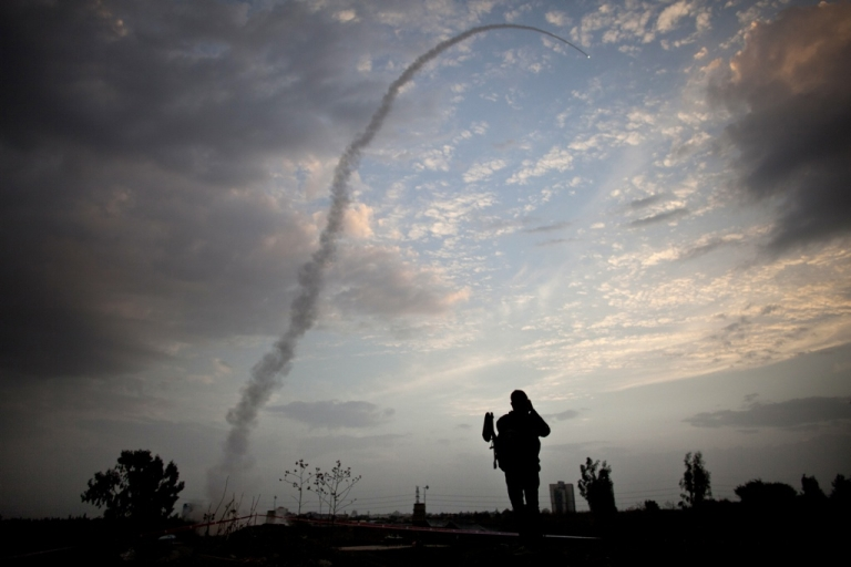<p>An Israeli missile from the Iron Dome defence missile system is launched to intercept and destroy an incoming rocket from Gaza on Nov. 17.</p>