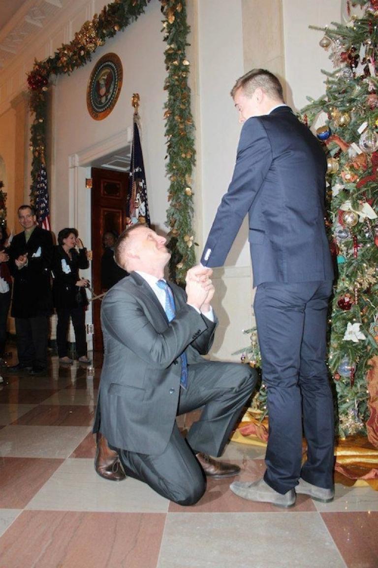<p>The historic proposal.</p>