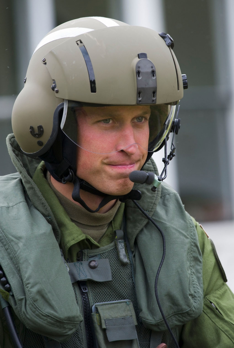 <p>Prince William puts his helicopter pilot game face on at maneuvers last year in Canada.  The heir to the throne's deployment to the Falkland Islands has angered the Argentine government.</p>