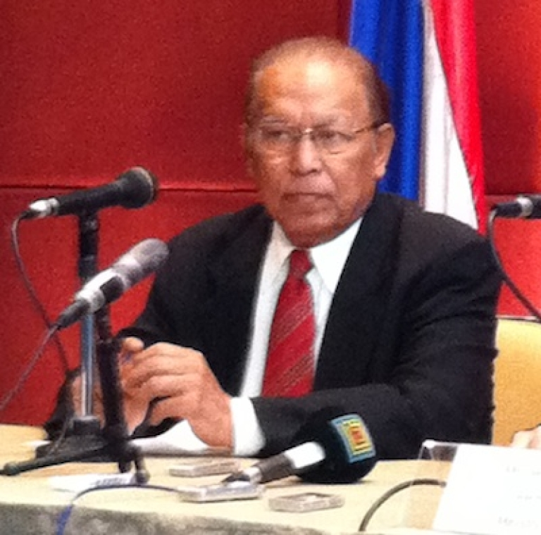 <p>U Win Mra, chairman of the Myanmar's new National Human Rights Commission.</p>