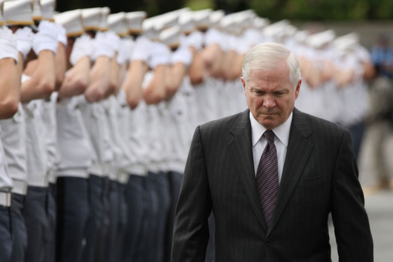<p>Secretary of Defense Robert Gates at the United States Military Academy at West Point in New York.</p>