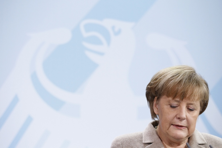 <p>It's not a good day for Merkel.</p>