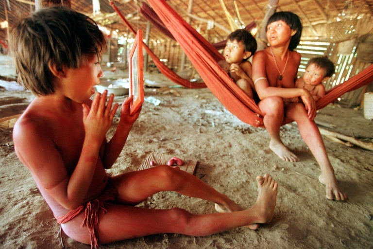 <p>The indigenous Yanomami live in the Amazon in Venezuela and Brazil.</p>
