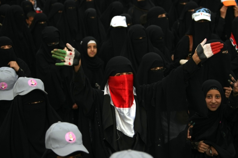 <p>Yemenis protest in Sanaa on Sept. 11, 2012.</p>