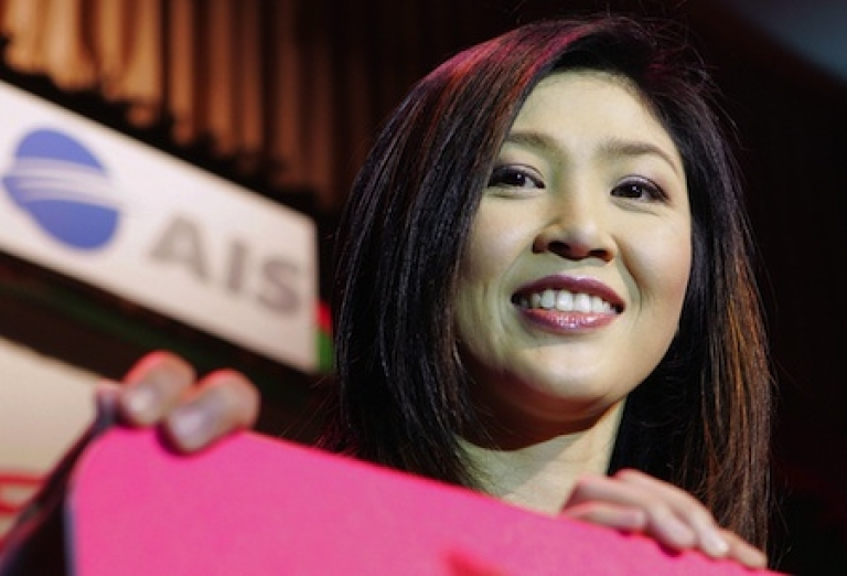 <p>Yingluck Shinawatra, sister of ex-Thailand Prime Minister Thaksin Shinawatra, who was deposed in a 2006 coup. She is among those challenging the ruling party in an election slated for early July.</p>