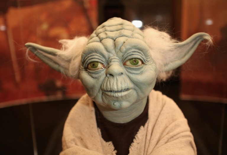 <p>A new deep-sea worm is named after the Star Wars character Yoda. Here, a Yoda model is on display in London, England.</p>