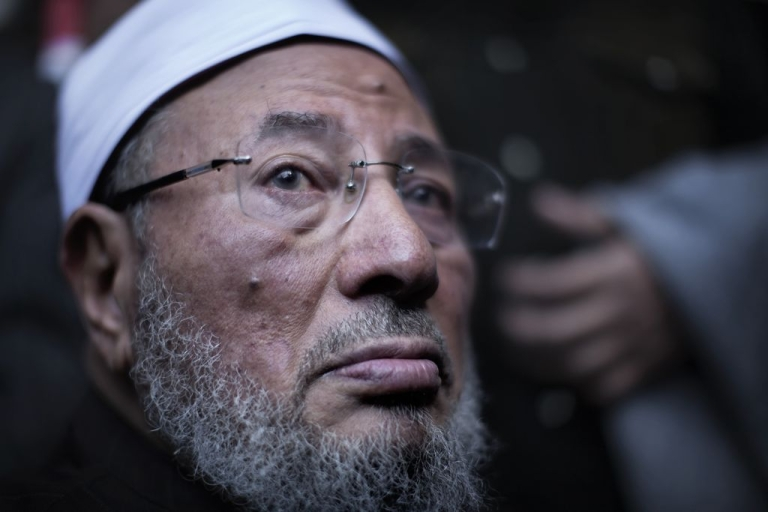 <p>Sheikh Youssef Al Qaradawi, pictured in his native Egypt in February 2011.</p>