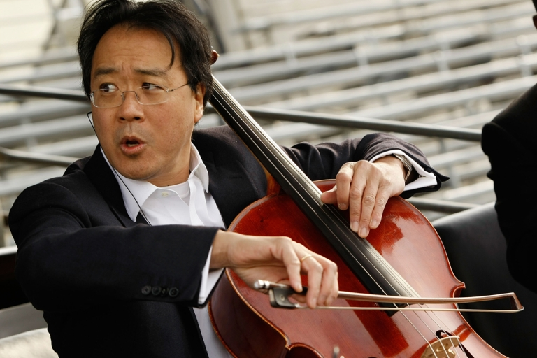 <p>Yo-Yo Ma rehearses for the presidential inauguration on January 19, 2009 in Washington, DC. The French-born, American Chinese cellist has been awarded this year's Polar Music Prize, along with singer-songwriter Paul Simon.</p>