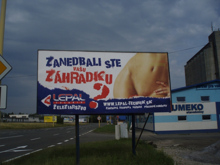 <p>Hardware store billboard in Slovakia urges women not to