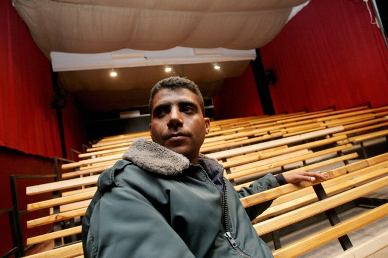 <p>Zakaria Zubeidi pictured in the Freedom Theatre in the West Bank refugee camp of Jenin, on Jan. 17, 2008.</p>