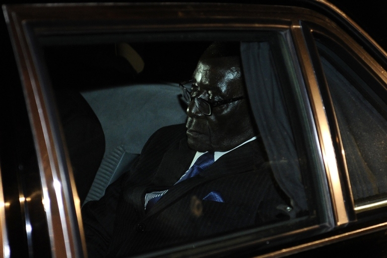 <p>Zimbabwean President Robert Mugabe leaves the SADC (Southern African Development Community) troika summit on March 31, 2011 in Livingstone, Zambia, where he was strongly criticized by South African President Jacob Zuma.</p>