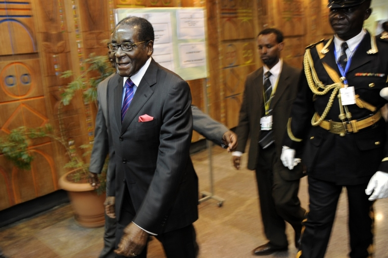 <p>Fresh allegations of torture have been made against Zimbabwean President Robert Mugabe's government by 46 Zimbabweans charged with treason for watching videos of the Tunisian and Egyptian uprisings and allegedly plotting to overthrow the Harare regime. Here Mugabe arrives January 28, 2011 at the 16th ordinary session of the African Union, AU, in the Ethiopian capital, Addis Ababa.</p>