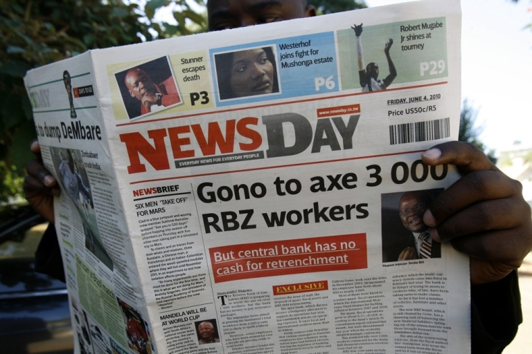 <p>NewsDay is one of the new, privately owned newspapers that President Robert Mugabe has permitted to print in the past year, but the government has refused to allow more press freedom.</p>