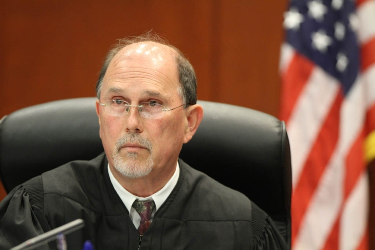 <p>SANFORD, FL- JUNE 29: Judge Kenneth Lester presides over George Zimmerman's bond hearing in Seminole County courtroom on June 29, 2012 in Sanford, Judge Lester denied a defense request for him to stand down over allegations Zimmerman would not receive a fair trial.</p>