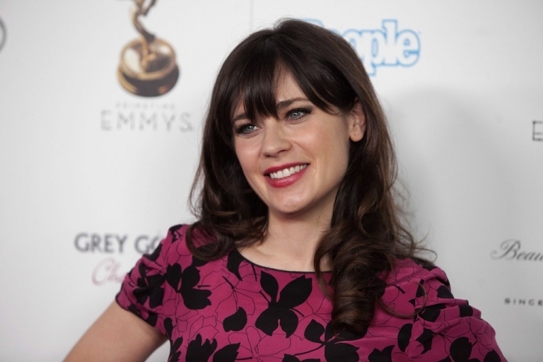 <p>WEST HOLLYWOOD, CA - SEPTEMBER 21: Actress Zooey Deschanel attends The Academy Of Television Arts &amp; Sciences Performer Nominees' 64th Primetime Emmy Awards Reception at Spectra by Wolfgang Puck at the Pacific Design Center on September 21, 2012 in West Hollywood, California.</p>