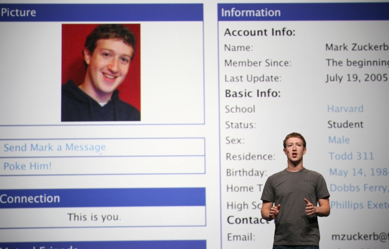 <p>Facebook CEO Mark Zuckerberg delivers a keynote during a Facebook f8 Developer Conference at the San Francisco Design Center in September.</p>