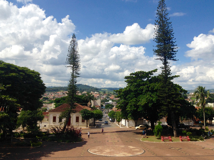 Center of town. Guaxupe, Brazil