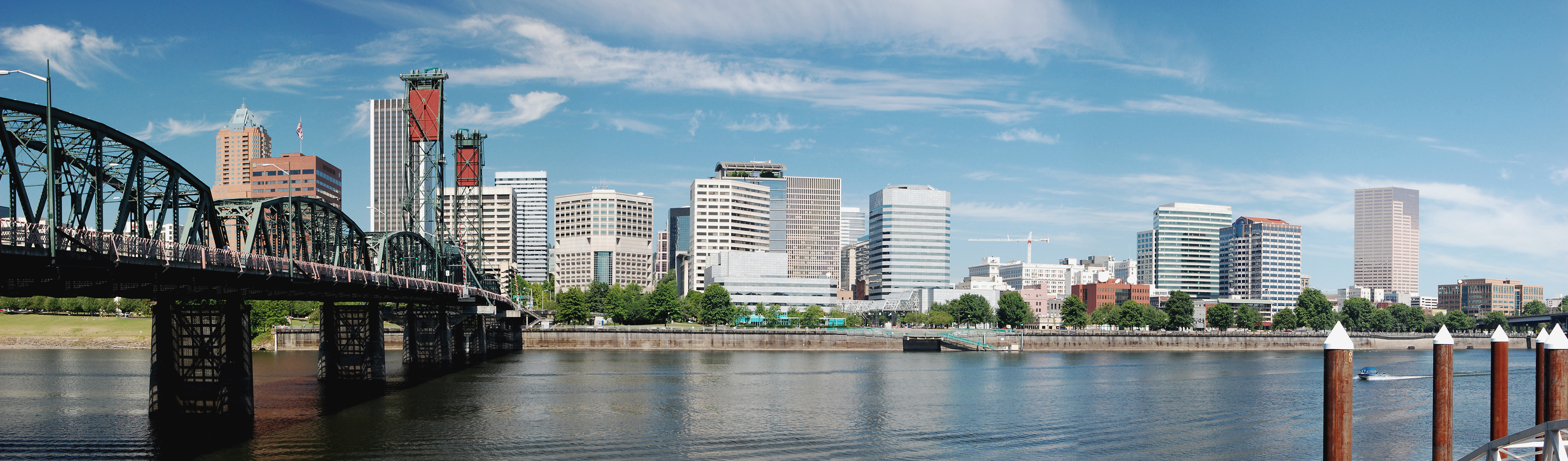 A panorama of Portland, Oregon.